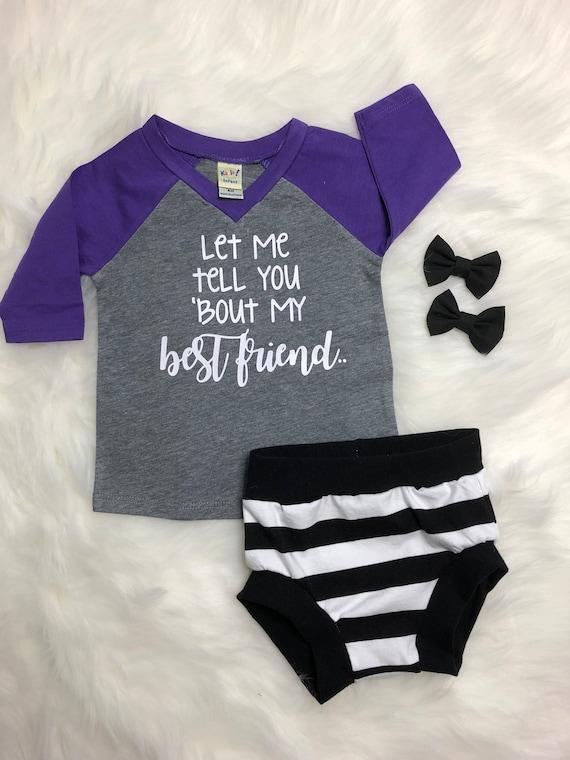 b4bdc09b4 Best Friend Toddler Tees Purple & Gray Best Friends Raglan | Etsy