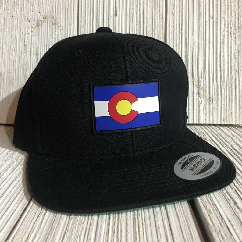 f5e3d11c2 PVC Colorado Flag Hat / Snapback CO Hat Mens Colorado State Flag Hat Gift  for Him Trucker Hat Baseball Cap PVC Patch Cap Colorado Headwear