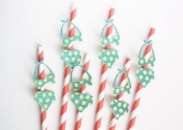 Bikini Straws Set of 6 Mix & Match