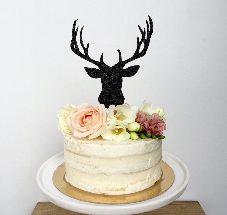 Deer Cake Topper. Outdoor Wedding Cake Topper. Woodland Cake Topper ...