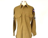 VTG 1940 39 s Wool Military Shirt by Duro