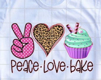 MANY COLORS Peace Sign Love Heart Cupcake Dessert Funny Sticker Cute Vinyl Decal Car Funny Bake Girl Gift Cake FY021