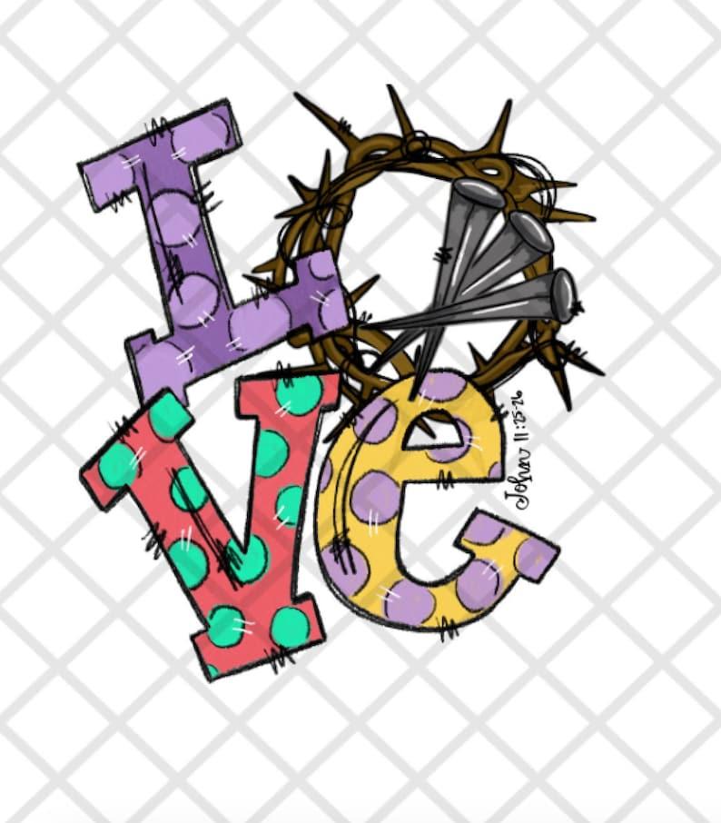 LOVE John 3:16 ready to press Sublimation Transfer