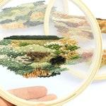 RESERVED***Dandelion Fields+Autumn Field Landscape Contemporary Embroidery, Colorado