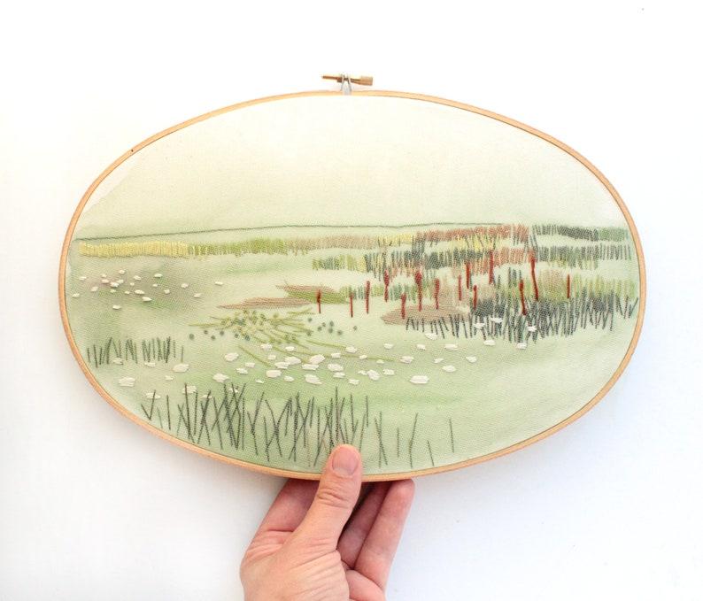 Summer Plains Landscape Contemporary Embroidery Colorado image 0