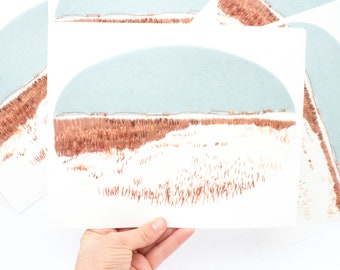 Winter Plains; Contemporary Embroidery Print