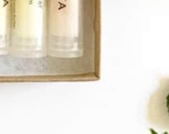 Lip Balm Gift Set | 100% Natural | Rose, Citrus, Lavender | Stocking stuffer | Gift | Christmas | Thanksgiving | Back to school