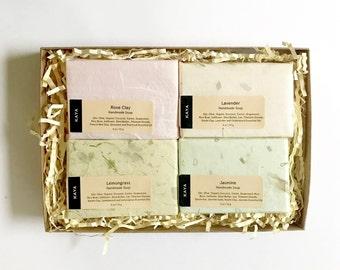 Handmade Soaps Gift set | Rose | Lavender Soap | Lemongrass | Jasmine | Gift box for Coworkers | Thanksgiving gift | Christmas Gift