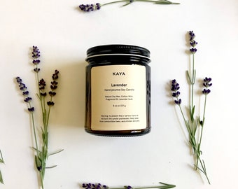 Lavender Soy Candle | 8 oz | Thanksgiving gift | Christmas Gift | Home decor
