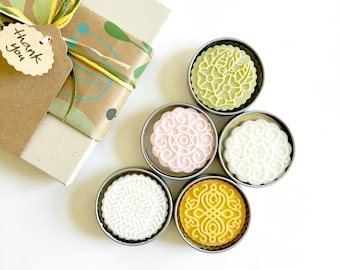 Gift Set - 4 Solid Lotion Bars | 100% Natural | Spa and Relaxation | Hands Foot Moisturiser |  Gift for Her | Thanksgiving | Gift for family