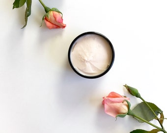 Rose + Ylang Ylang whipped body butter | 100% natural Organic | Hands & body Moisturizer | Fall and Winter skin care