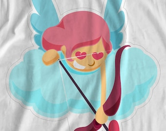 Valentines - Cupid Girl 1 - Iron On Transfer