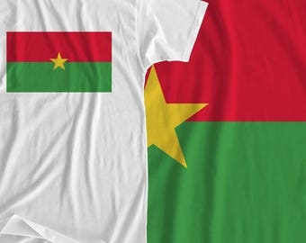 Burkina Faso - Flag - Iron On Transfer