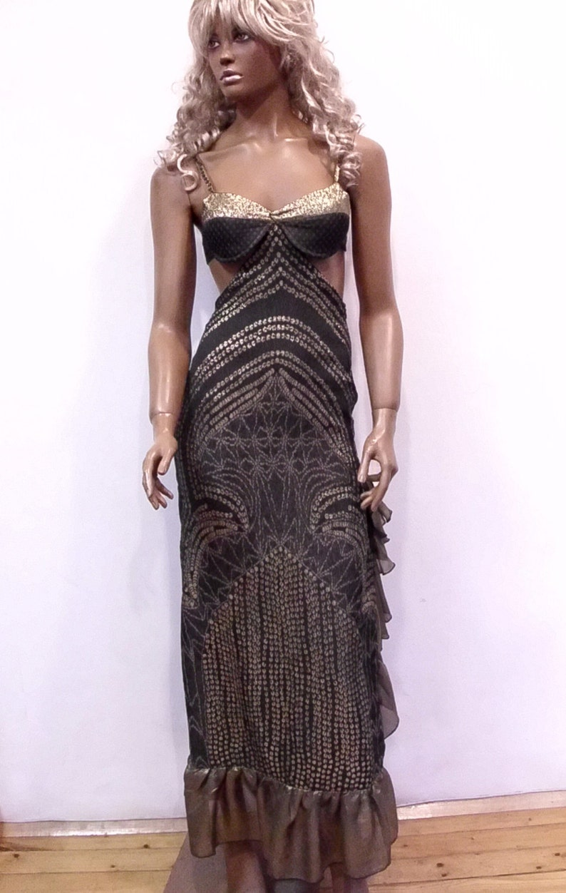 382618c9d98 SALE Dark gray and golden party dress from Romina Fashion