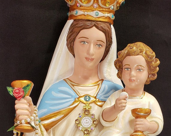 "Our Lady of the Most Blessed Sacrament and the Infant Jesus 16"" Mary Religious Catholic Christian Statues"