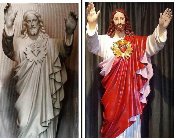 "Jesus Blessing Beckoning 60"" (white) Fiberglass Statue"