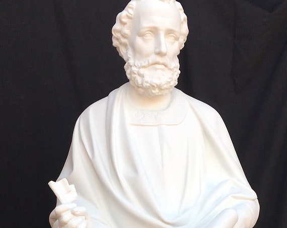"St. Peter the Apostle 65"" Fiberglass Statue (White) SALE 25% OFF"