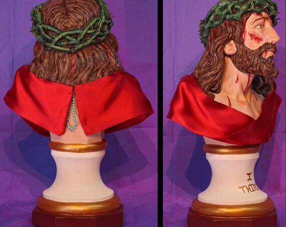 "Holy Face of Jesus Bust 19"" Catholic Christian Religious Saint Statues"