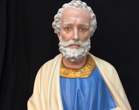 "St. Peter the Apostle 65"" Fiberglass Statue (Fully Painted)"