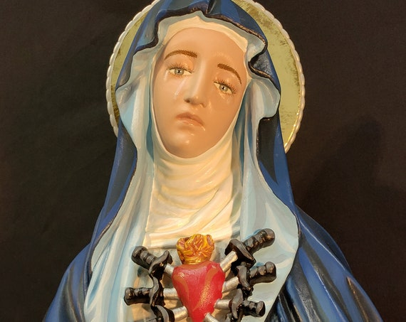"""24"""" Our Mother of Sorrows Our Lady of Sorrows Sorrowful Mother Mater Dolorosa Our Lady of the Seven Sorrows Our Lady of the Seven Dolours"""