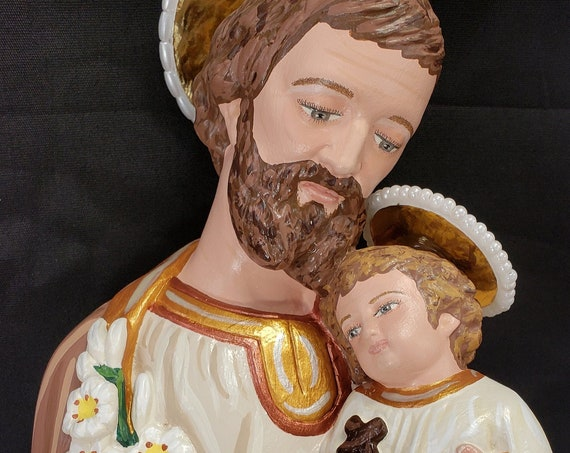 "St. Joseph and Baby Jesus 18"" Saint Religious Catholic Christian Statues"