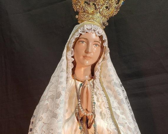 "Our Lady of Fatima 26"" Pilgrim Virgin of Fatima St. Jacinta St. Francisco Sr. Lucia"