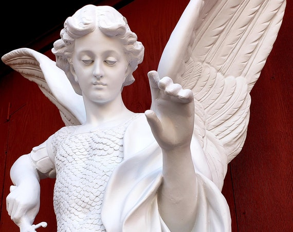 "St. Michael 72"" (white) the Archangel (10% off)"