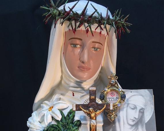"31"" St. Catherine of Siena Saints Religious Catholic Christian Statues"