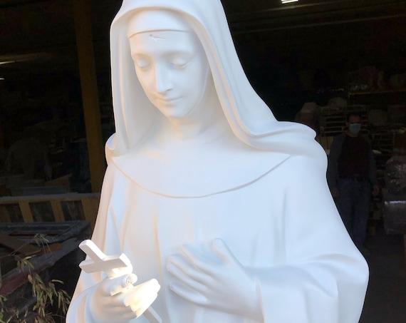 "St. Rita of Cascia 67"" Fiberglass Statue Stigmata Catholic"