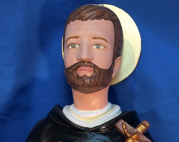 "10% off!!! St. Dominic 18"" (FULL BLACK CAPPA version) Saints Religious Catholic Christian Statues"