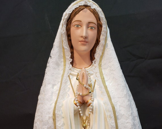 """33"""" Our Lady of Fatima Blessed Mother Mary Jacinta Francisco Lucia"""