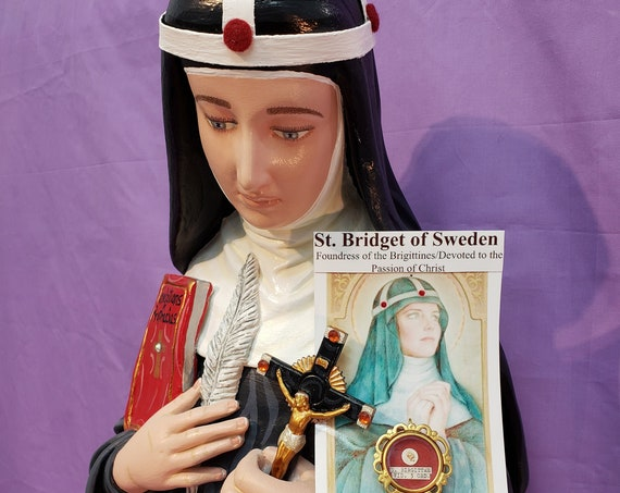 "St. Bridget of Sweden 31"" Saints Catholic Christian Religious Statues"