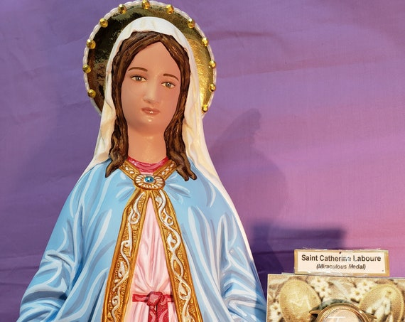"""Our Lady of Grace/Miraculous Medal 26"""" Mary Religious Catholic Christian Statues"""