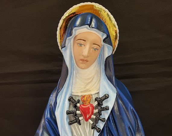 """Our Mother of Sorrows Our Lady of Sorrows 23"""" Sorrowful Mother Mater Dolorosa Our Lady of the Seven Sorrows Our Lady of the Seven Dolours"""