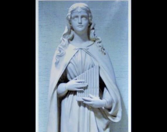 "St. Cecilia Fiberglass 61"" fiberglass statue"