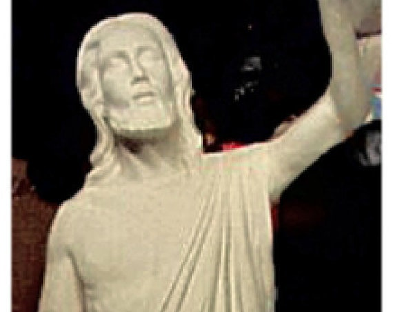 "Jesus Risen Ascending 72"" Fiberglass statue (sale)"