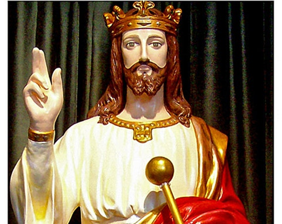 "Christ the King Jesus 62"" (white) Fiberglass Statue"