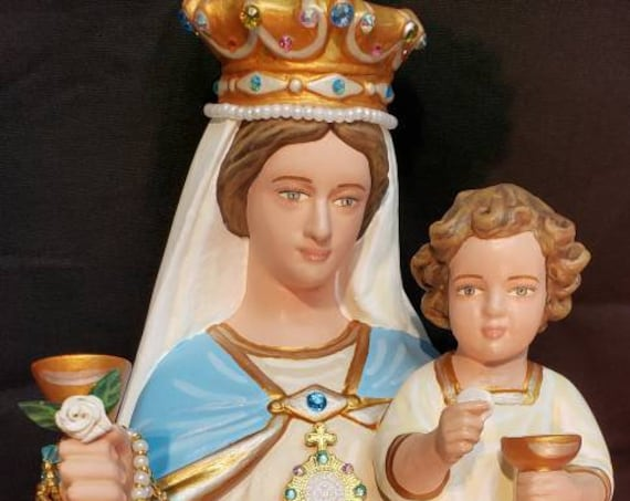"""Our Lady of the Most Blessed Sacrament and the Infant Jesus 16"""" Mary Religious Catholic Christian Statues"""