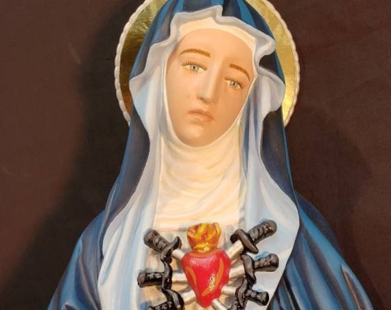 "Our Mother of Sorrows 24"" Mary Religious Catholic Christian Statues"