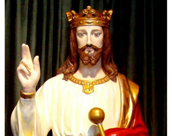 "Christ the King Jesus 62"" (white only) Fiberglass Statue"