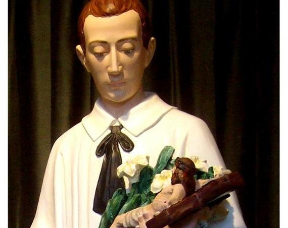"""St. Aloysius Gonzaga 60"""" (white) Fiberglass Statue"""