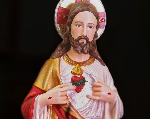 "Sacred Heart of Jesus 18"" Catholic Christian Religious Saints Mary Statue"