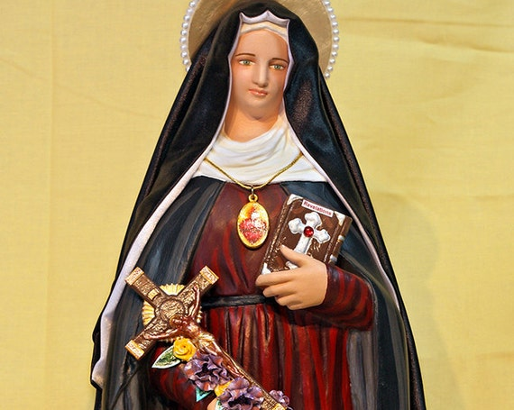 "St. Gertrude the Great 18"" Catholic Christian Religious Saint Statues"
