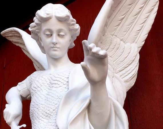 "St. Michael the Archangel 72"" Fiberglass Statue"