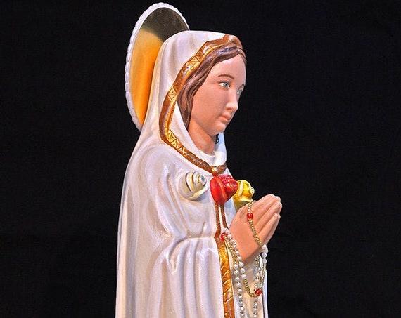 "Maria Rosa Mystica Our Lady Mystical Rose 18"" Mary Religious Catholic Christian Statues"