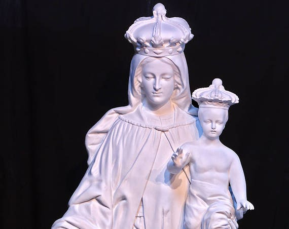 "Our Lady of Mount Mt. Carmel 57"" (white) Fiberglass Statue"