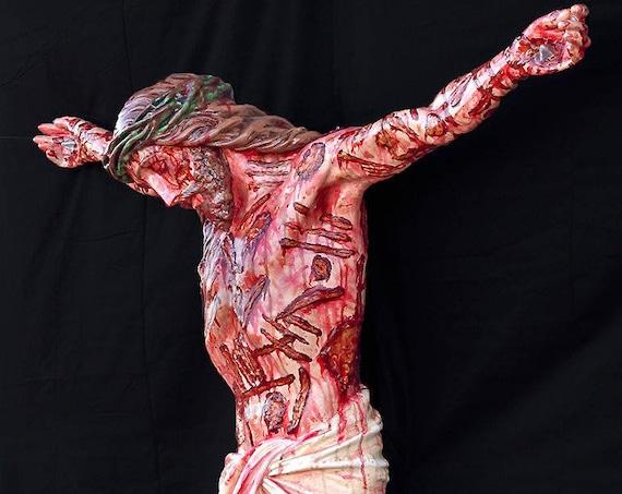 "Jesus Corpus (WHITE ONLY) 60"" Fiberglass Statue"