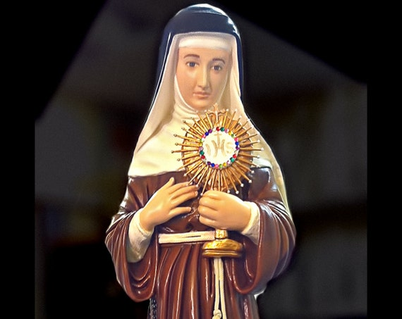 """10% OFF!! St. Clare of Assisi 31"""" Catholic Christian Religious Saint Statues"""