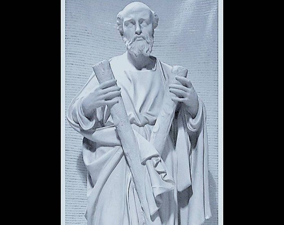 "St. Andrew the Apostle 60"" Fiberglass Catholic Statue"