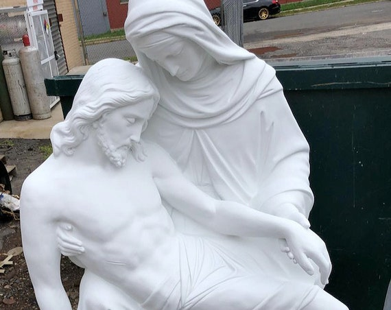 "Pieta 55"" Fiberglass Statue Catholic Blessed Mother Sorrowful Jesus Death"
